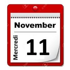 Mercredi 11 novembre