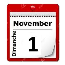 Dimanche 1er novembre